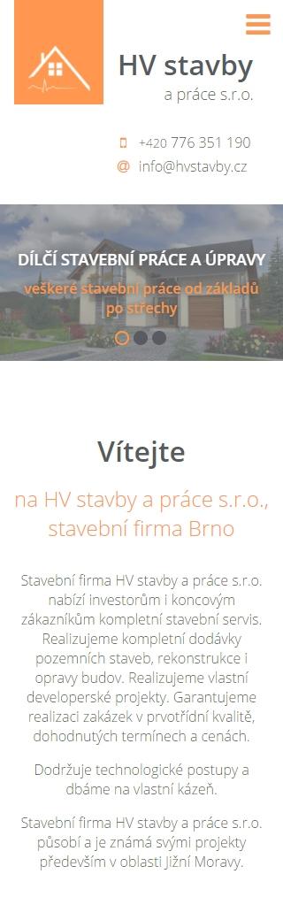 HV stavby a práce s.r.o.